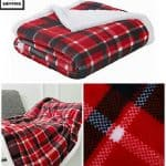 Christmas Plaid Fleece Throw