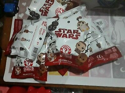 Funko Star Wars Mystery Plush Keychains Lot of 7