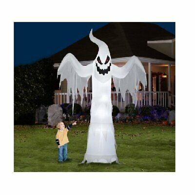 Gemmy Giant Ghost Halloween Decoration Airblown Inflatable 12' X 7.5'