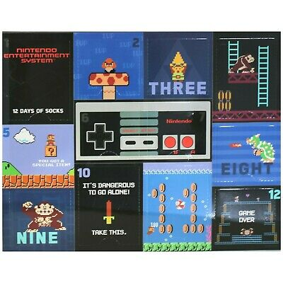 Nintendo Entertainment System 12 Days of Socks Sock Size 10-13 Advent Calendar