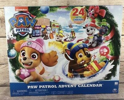 Paw Patrol Advent Calendar 24 Surprise Toy Christmas Gift - NEW