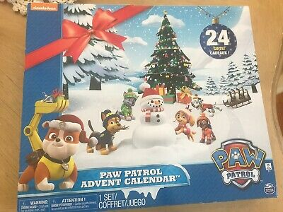 Paw Patrol Advent Calendar with 24 Figurines Nickelodeon
