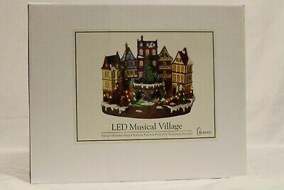 "Roman 15.5"" LED Musical Village, Various Christmas Songs, Rotating"