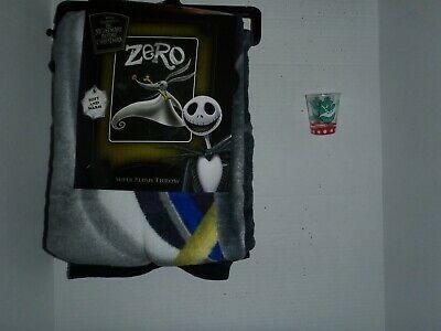 The Nightmare Before Christmas ZERO Super Plush Throw Blanket 46X60 & Shot Glass