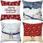christmas pillow covers 18x18 set of 2