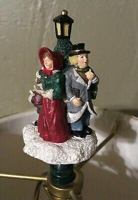"""3 1/4"""" Christmas Carolers Lamp Post Lamp Shade Topper"""