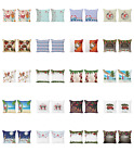 Ambesonne Christmas Print Cushion Cover Set of 2 for Couch and Bed in 4 Sizes