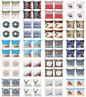 Ambesonne Christmas Theme Cushion Cover Set of 4 for Couch and Bed in 4 Sizes