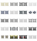 Ambesonne Grey Details Cushion Cover Set of 2 for Couch and Bed in 4 Sizes