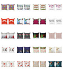 Ambesonne Happy Xmas Cushion Cover Set of 2 for Couch and Bed in 4 Sizes