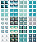 Ambesonne Teal Cushion Cover Set of 4 for Couch and Bed in 4 Sizes