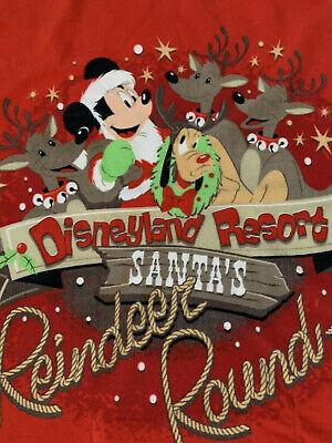 Disney Parks Mickey Mouse Christmas Reindeer Roundup Red Fleece Blanket