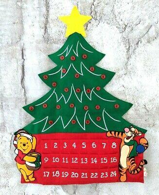 "Disney Winnie the Pooh Tigger Felt Advent Calendar Christmas Tree Hang 25.5"""
