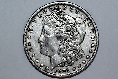 For Sale An 1891 P Morgan Silver Dollar (VAM 2A) That Grades Very Fine (MDX1963)