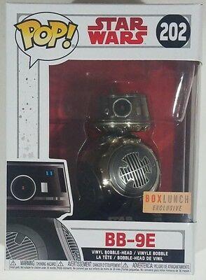 Funko POP EXCLUSIVE Chrome BB-9E #202 Star Wars Episode 8 The Last Jedi Figure