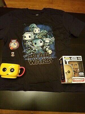 Funko Star Wars Smuggler's Bounty Box Resistance CHEWBACCA FLOCKED #63 C-3PO Mug