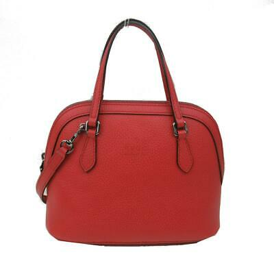 GUCCI Leather 2way Crossbody shoulder hand bag 341504 leather Red Used Vintage