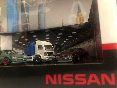Hot Wheels NISSAN PREMIUM COLLECTOR SET Garage Diorama Datsun 510 Bluebird 240ZX