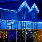 Multicolor/Warm/White/Blue Lights 96 LEDs Christmas Curtain Icicle String Lamps