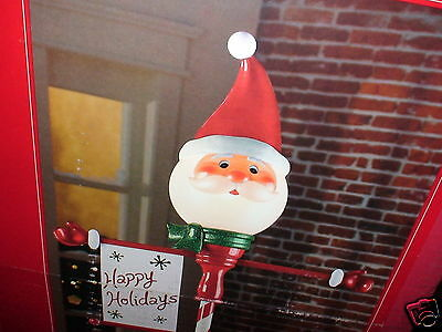 New 6' Lighted non-animated OUTDOOR Christmas Santa Claus Lamp Post Light-NICE!