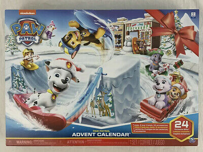 Paw Patrol Advent Calendar with 24 Figurines Nickelodeon New In Box Unopened
