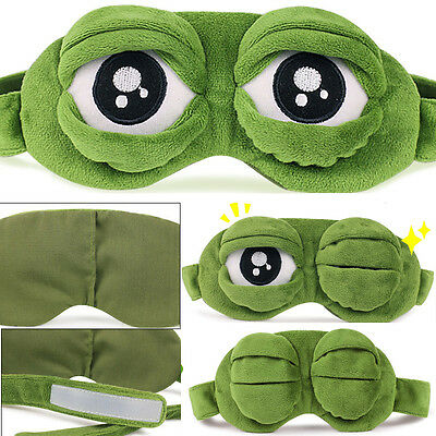 Pepe The Frog Sad Frog 3D Eye Mask Cover Sleeping Rest Sleep Anime Funny Gift A+