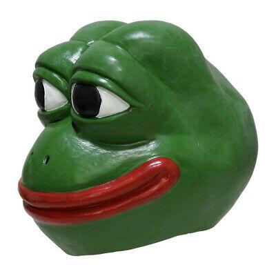 Realistic Rubber Animal Pepe Frog Latex Mask Comic Frog Troll Face Meme Hallowee