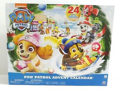 Spin Master Nickelodeon Paw Patrol Advent Calendar 24 Gifts NIB