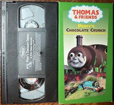 Thomas & Friends: PERCY'S CHOCOLATE CRUNCH (vhs) Alec Baldwin. VG Cond. Rare NR