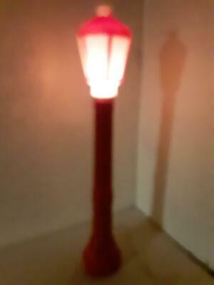 """Vintage 39"""" Christmas Lantern Lamp Post Candle Blow Mold Lights 1969 Empire"""