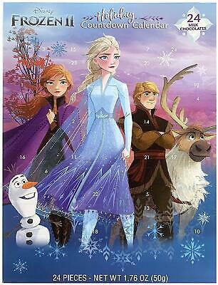 2 - Disney Frozen 2 Holiday Countdown Christmas Advent Calendar Milk Chocolate