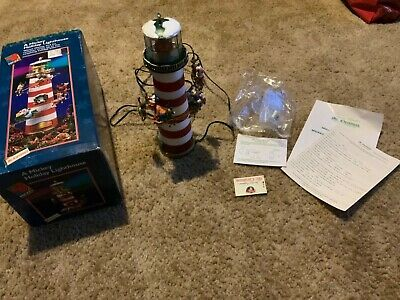 Disney A Holiday Tradition Lighthouse Christmas Mickey Mouse Tree Topper 1996