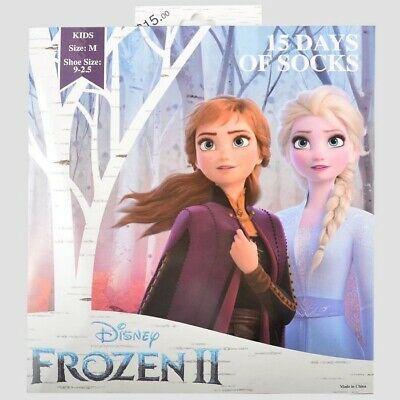 Disney Frozen II 15 DAYS OF SOCKS Kids Advent Calendar Size Small