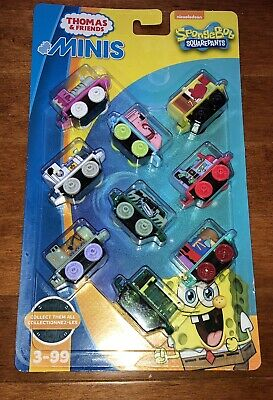 Fisher-Price Thomas and Friends Minis SpongeBob SquarePants Set of 9 New