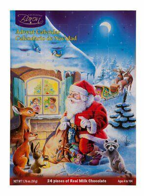Lot of 2 - Miles Kimball Chocolate Christmas Holiday Advent Calendar Santa Kit
