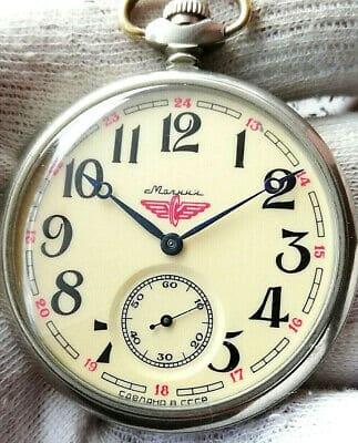 Molnija Train Pocket Watch