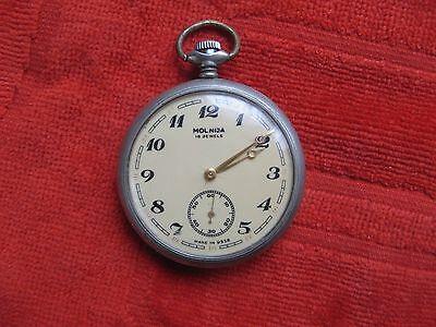 Rare Soviet/USSR Big Pocket watch - MOLNIJA TRAIN/LOCOMOTIVE 1970 , Made in USSR