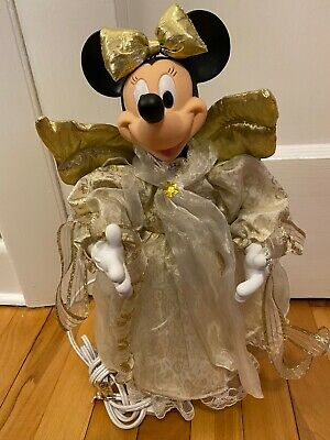 RARE Vintage Disney Minnie Mouse Christmas Tree Topper Holiday Angel Collection