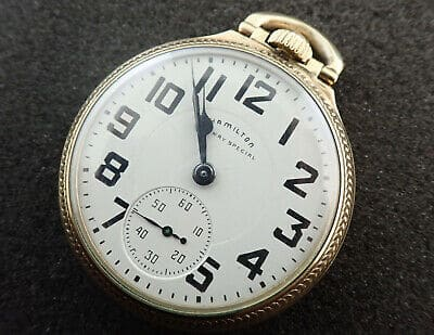 Hamilton Pocket Watch Railroad