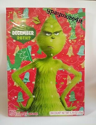 2019 The Grinch Christmas Advent Milk Chocolate Countdown Holiday Calendar