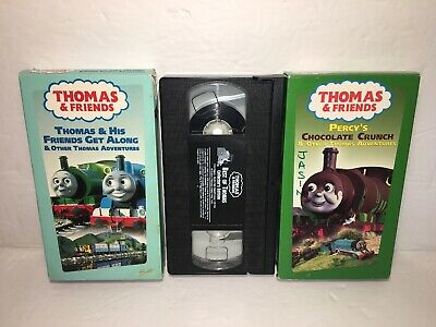3 Thomas & Friends VHS Percy's Chocolate Crunch, Best Of Thomas & Get Along HTF
