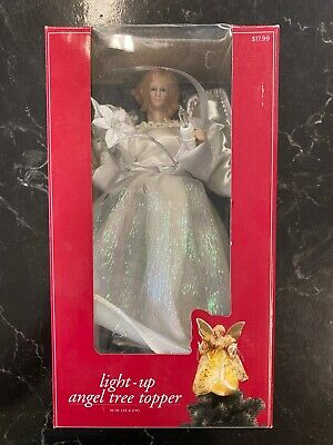 Angel Light Up Christmas Tree Topper with 10 Lights UL2154 New