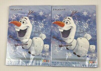 Disney Frozen 2 Milk Chocolate Candy Filled 2019 Christmas Advent Calendar 2 pk