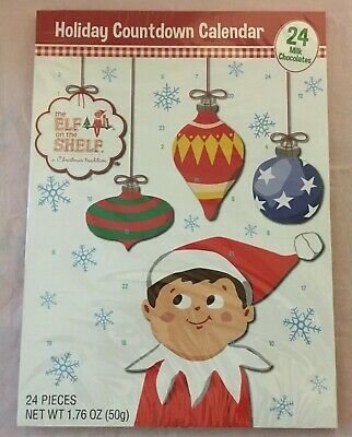ELF on the SHELF Chocolate Christmas Countdown Calendar 24 Days Exp. July 2021