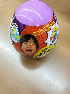 Fall 2019 NEW Ryan's World Series 3 Giant Egg Mystery Surprise Purple