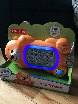 Fisher-Price Linkimals A to Z Otter Interactive Alphabet Learning Sound Lights