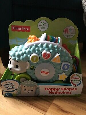 Fisher-Price Linkimals Happy Shapes Interactive Hedgehog Pull Toy Sound Lights
