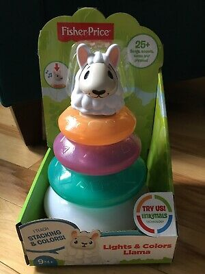 Fisher-Price Linkimals Lights & Color Interactive Llama StackingToy Sound Lights