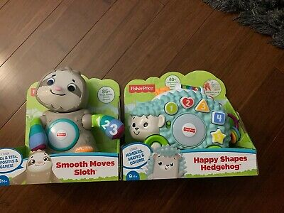 Fisher-Price Linkimals Smooth Moves Sloth And Happy Hedgehog with Music & Lights
