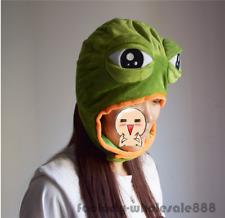 Halloween Sad frog pepe Costume Warmer Hat Cap Beanie Unisex Mask adult kids New